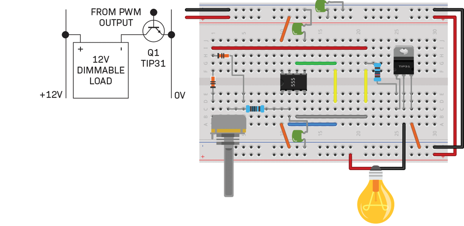 Versatile 555 Timer Pwm Control Diyode Magazine In The Astable Operation Mode Circuit Triggers Schematic Transistor1
