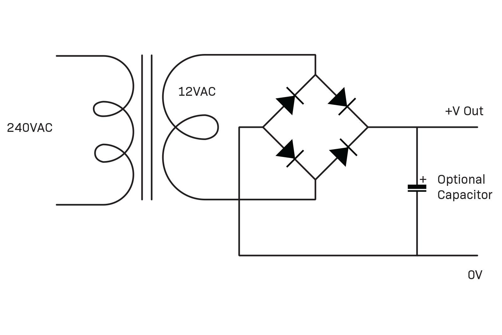 Doing Things With Diodes Diyode Magazine Power Supply Simple 12vac To 12vdc Rectifier Figure 4