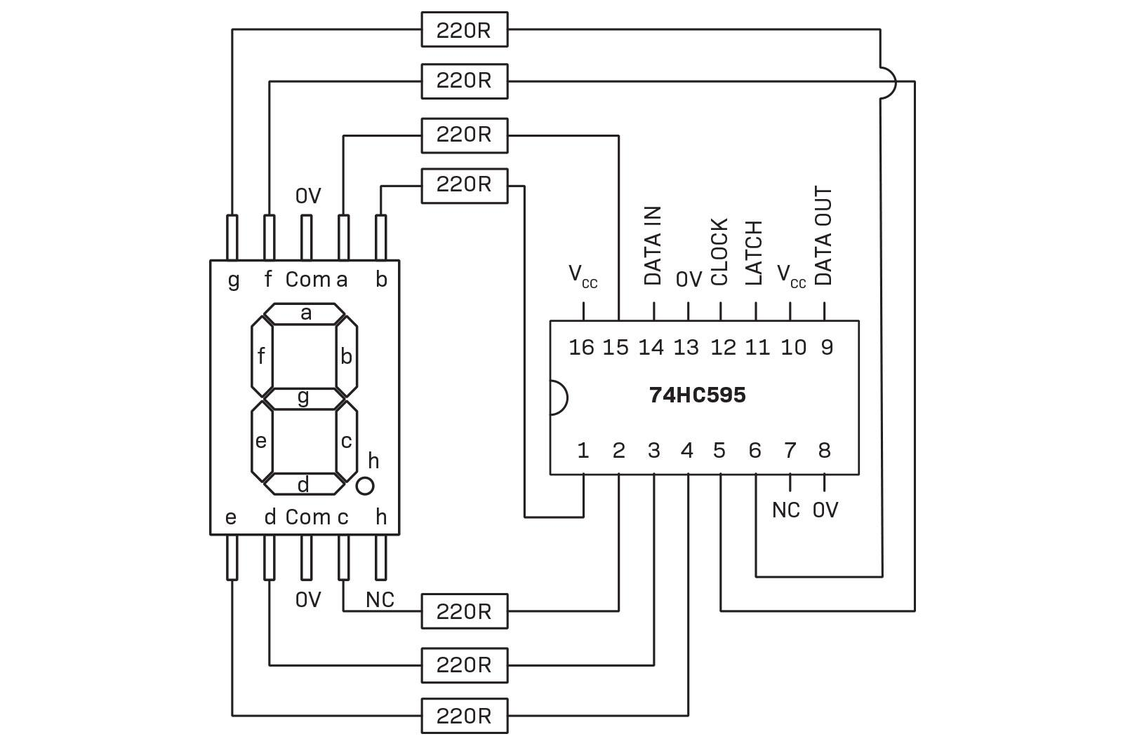 Part 1 Mega Digits Diyode Magazine 7 Segment Clock Circuit Diagram Schematic