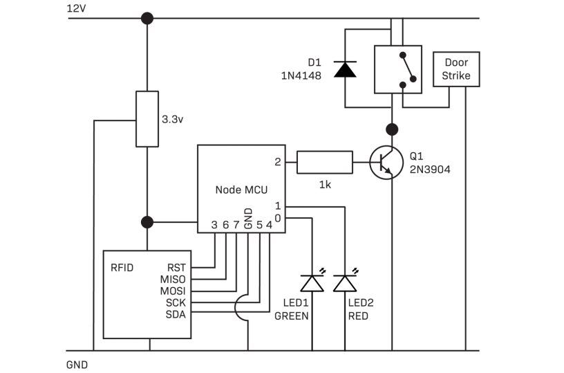 Schematic if using standard relay