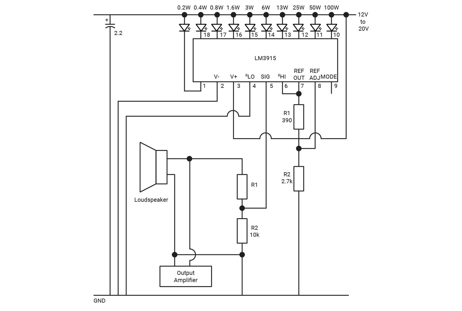 Visual Voice Display Diyode Magazine Lm3915 Vu Meter Circuit Filter I Testing The Withg A Bargraph