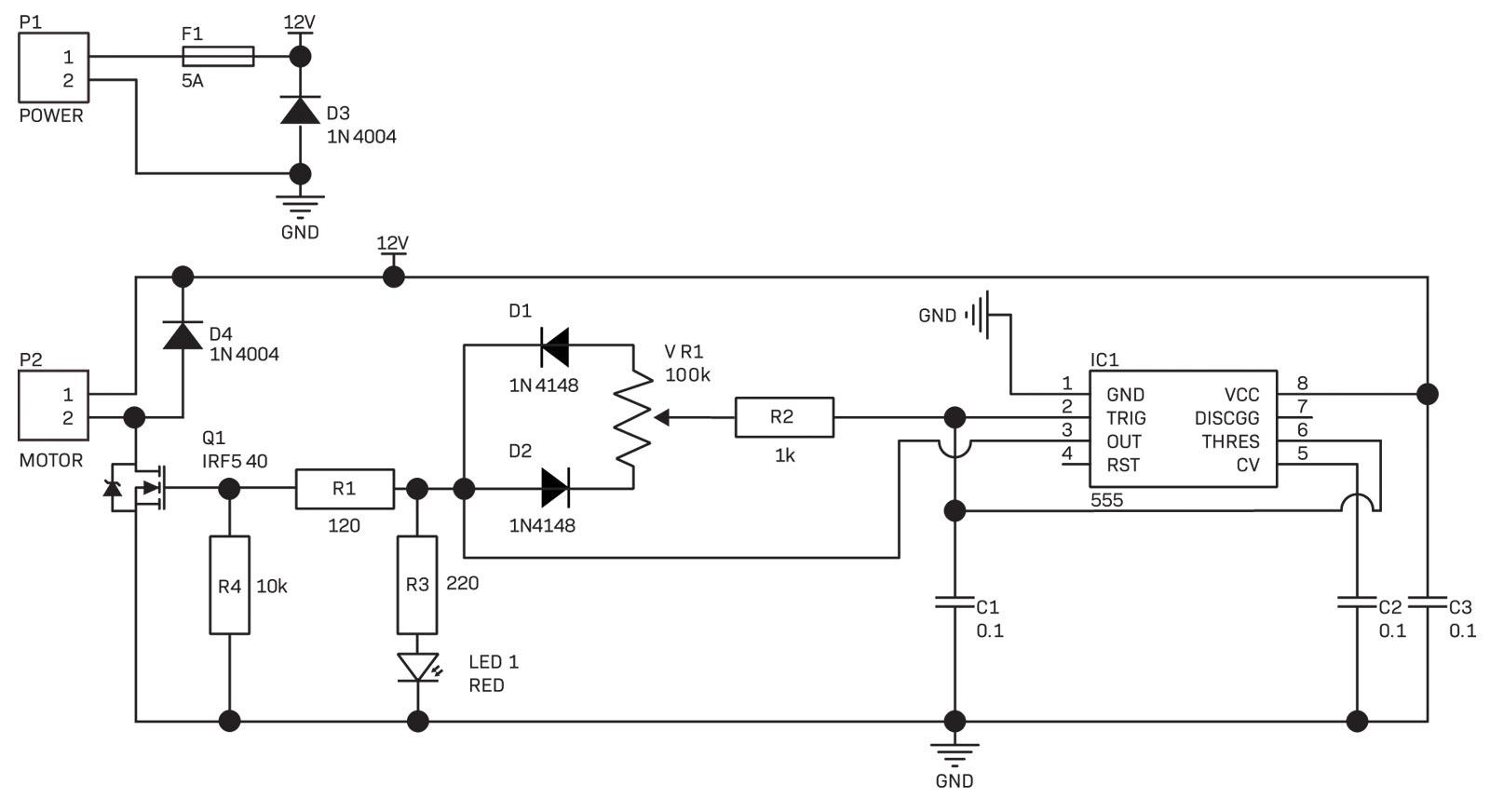 Swap NE555 timer chip with cmos LM7555 timer chip | All