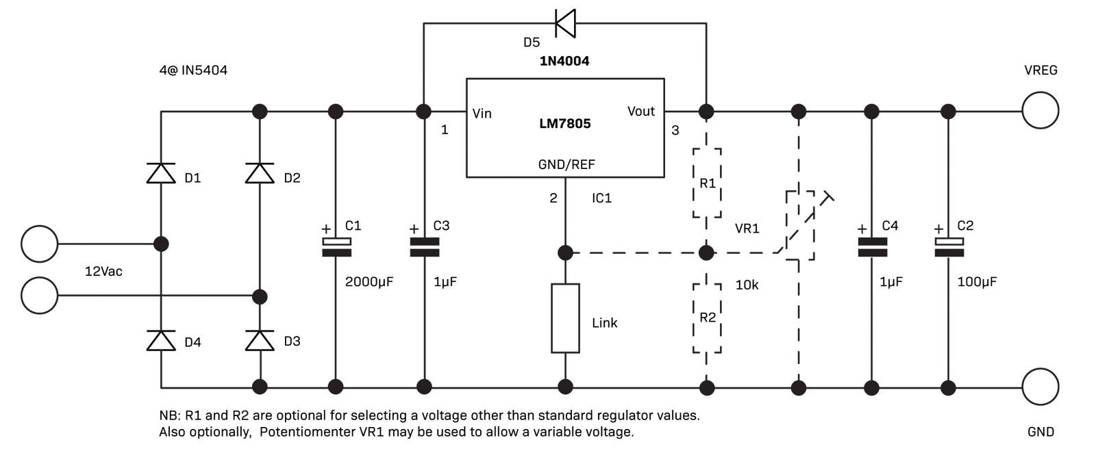 Part 2 The Linear Power Supply Diyode Magazine Circuits Can Be Used Anywhere A Zener Diode Function Would Fig 4