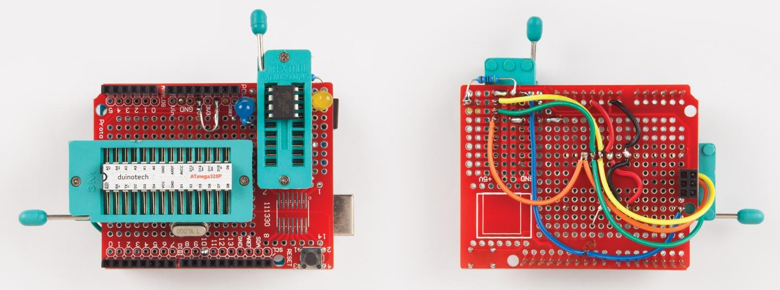 Programming The Attiny85 Diyode Magazine Simple Circuit Using Microcontroller An Rgb Led And Some Top Bottom