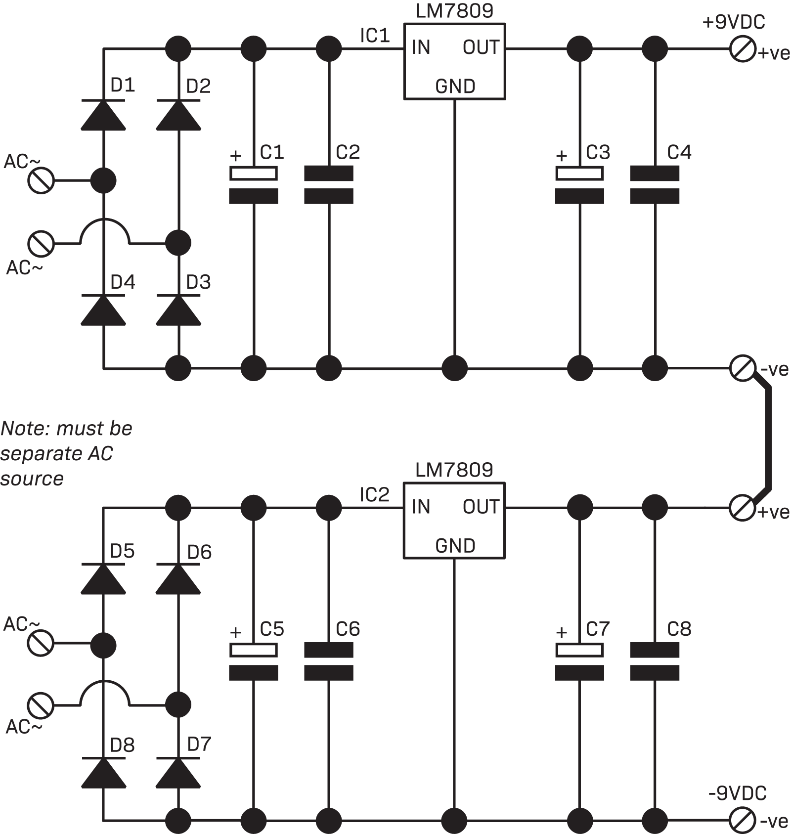 Part 3 The Linear Power Supply Diyode Magazine 24v Dual Regulated Circuit Diagram Supplies Connected Together