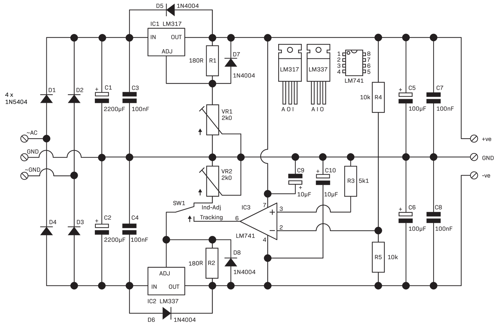 Part 3 The Linear Power Supply Diyode Magazine Regulated Circuit Diagram Homemade Projects Regulation