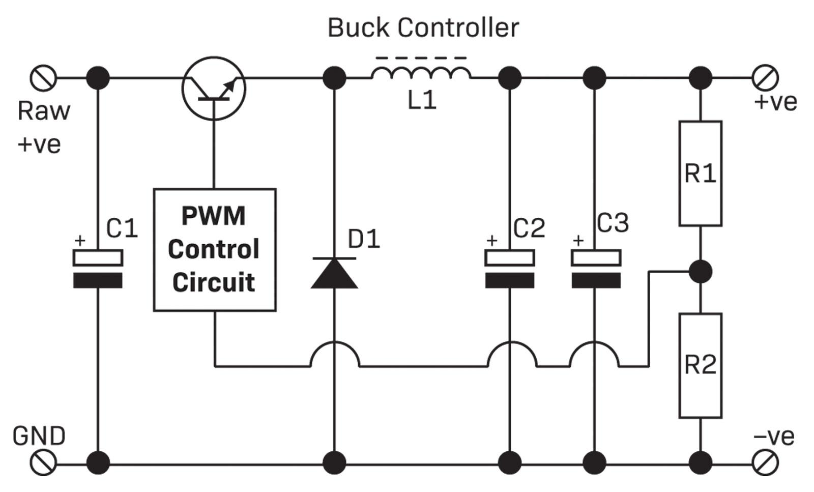 Part 1 The Switchmode Power Supply Diyode Magazine Example Smoothing Capacitor Circuit Buck Smps