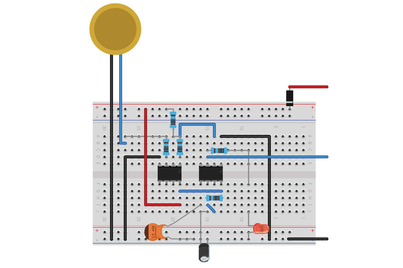Piezo Touch Switch Mode Diyode Magazine Simple Using 555 Ic Figure 1