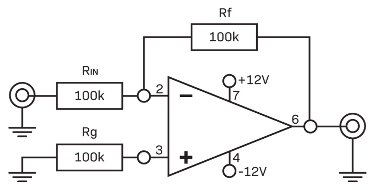 Buffers Inverters Diyode Magazine Single Polarity Supply By Ic Lm741 Inverter Inverting Buffer