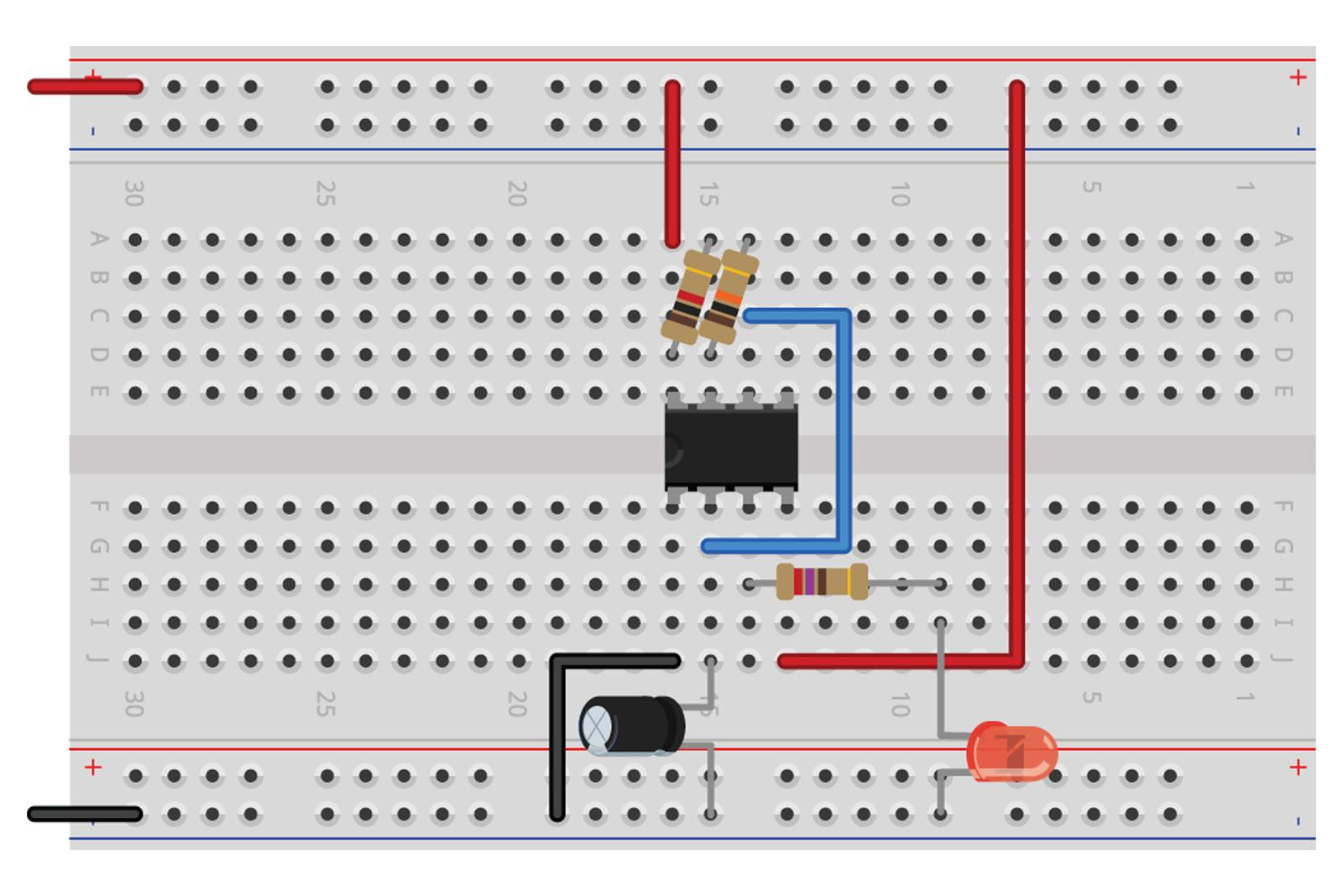 Breadboarding Basics Diyode Magazine Parallel Circuit Breadboard The Read Board Is Broken Up Fritzing R Both Images Show Same