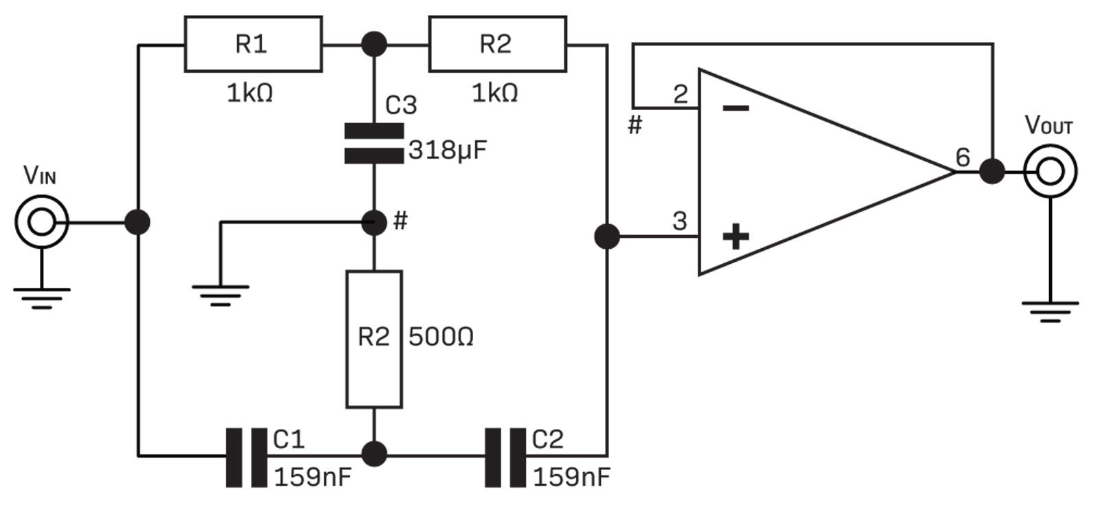 Filters Diyode Magazine Active Operational Amplifier Notch Filter Circuit The Is Quite Fig 8 In This