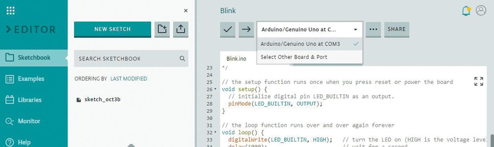 Arduino Web Editor - DIYODE Magazine